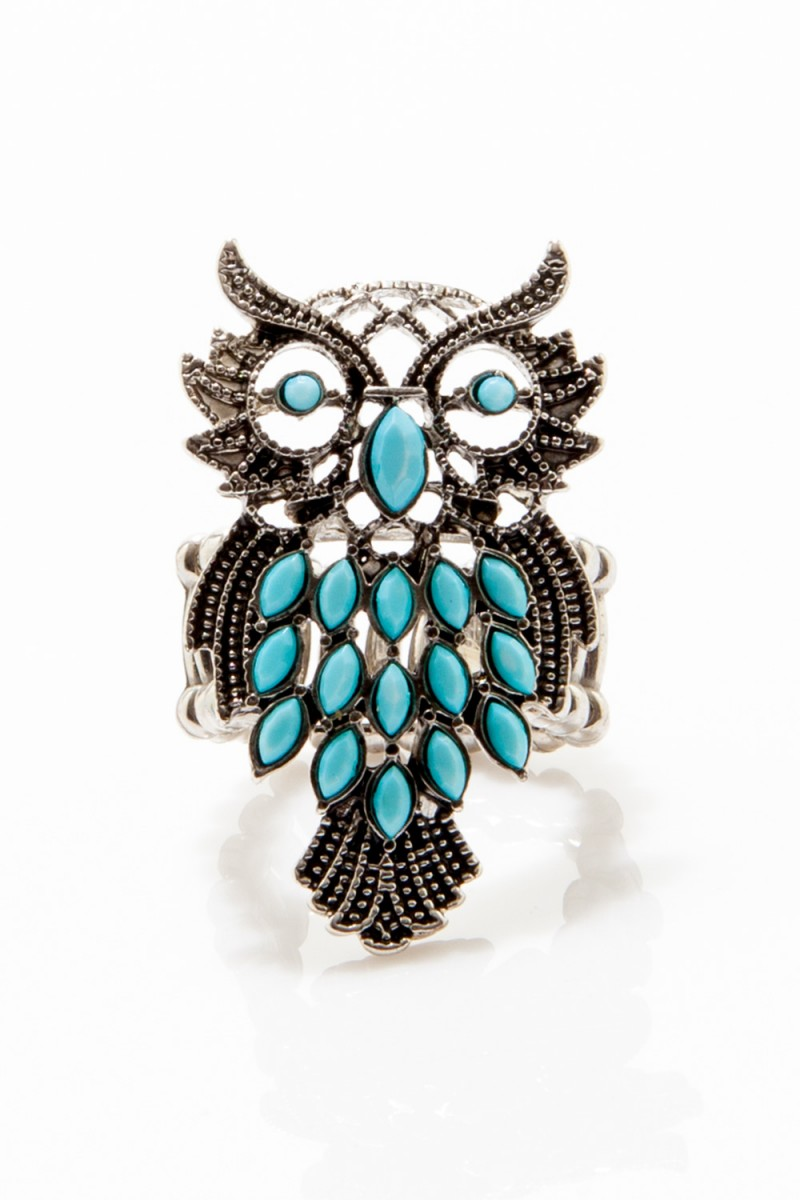 Anel Coruja Azul