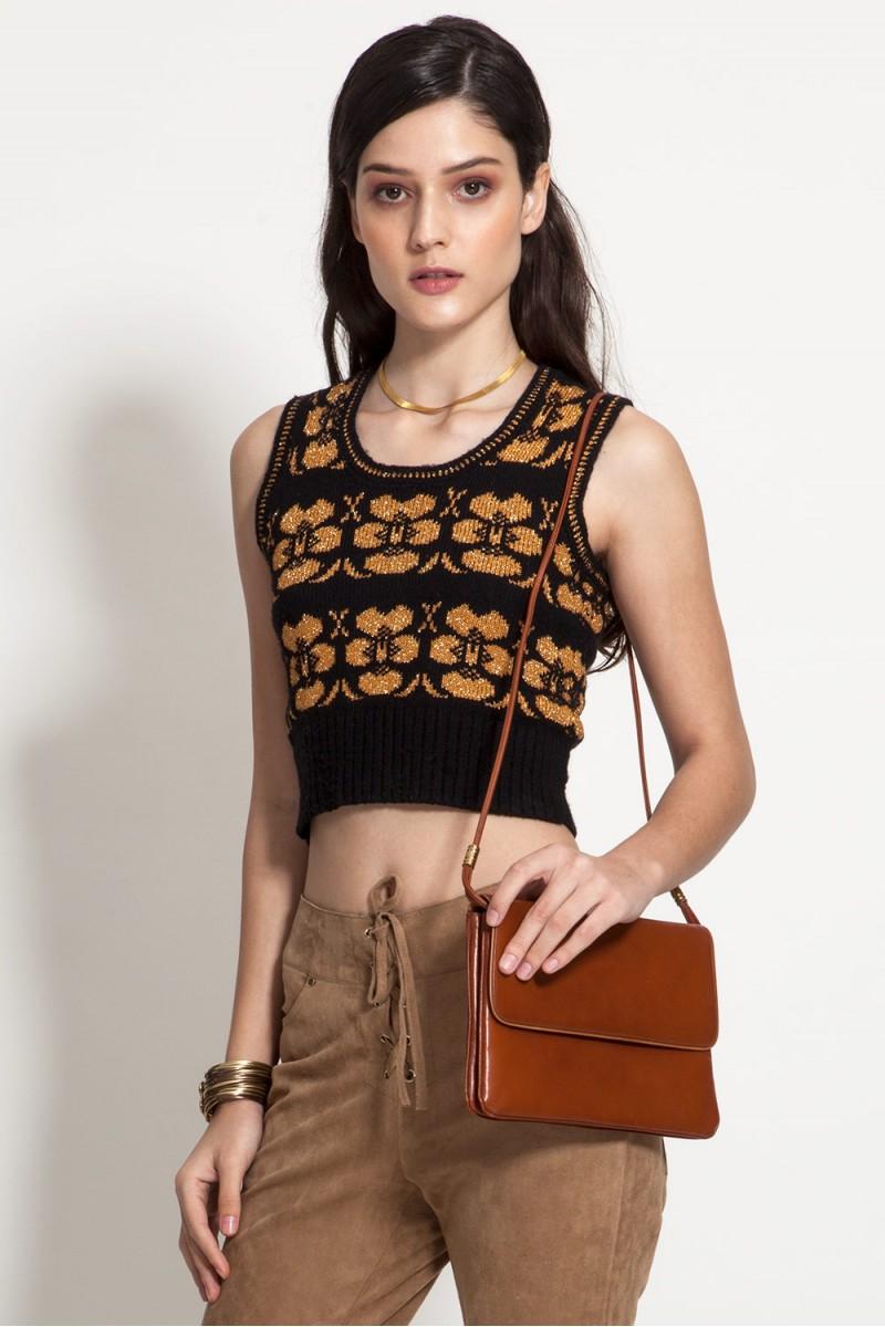 Blusa Vintage Tricô Chic