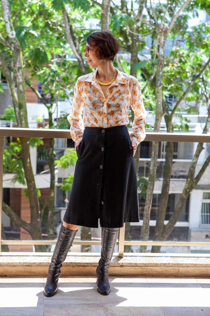 Camisa Vintage Outono