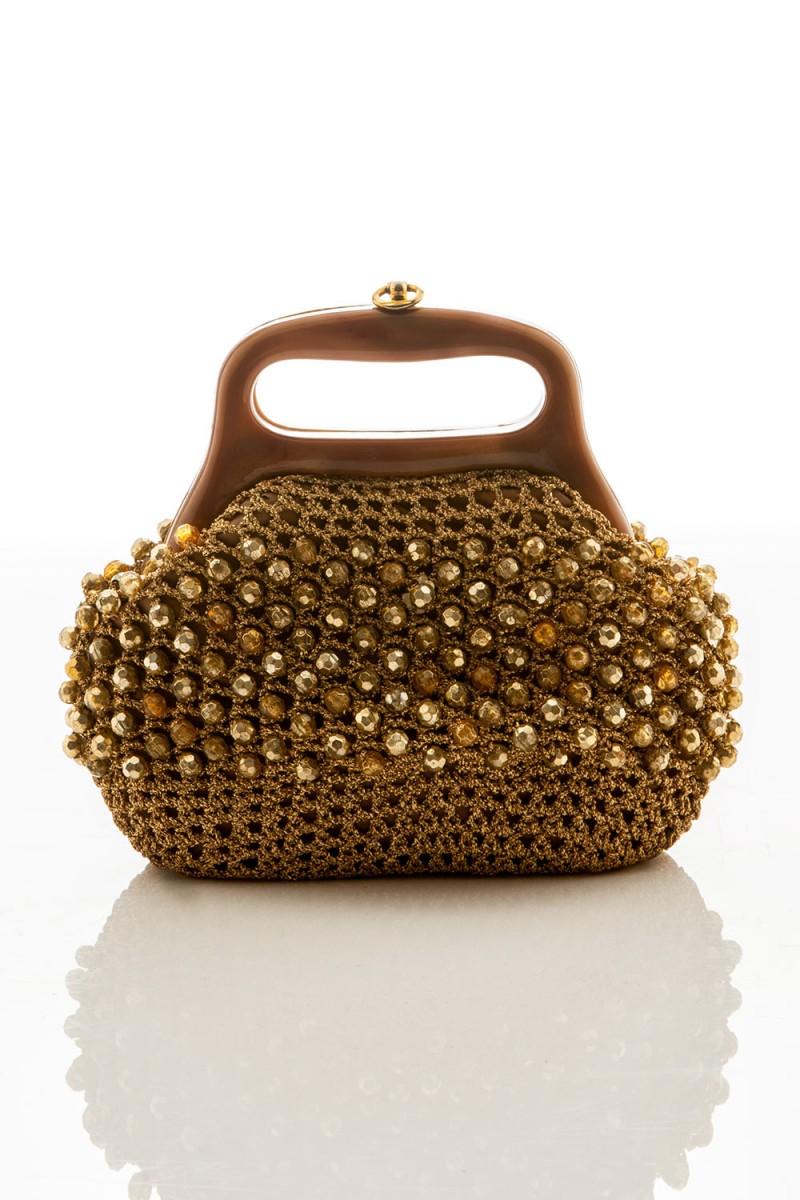 Bolsa Vintage Ouro Retrô
