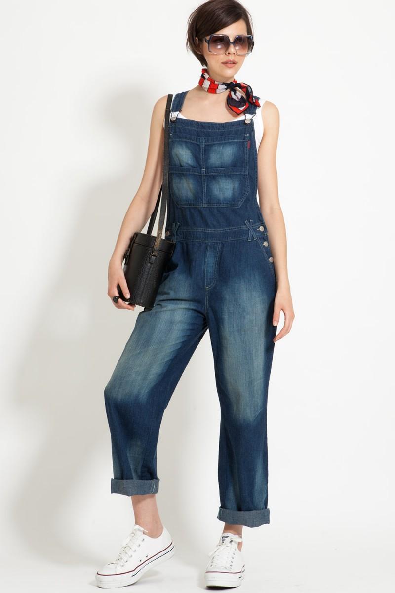 Jardineira Jeans Easy