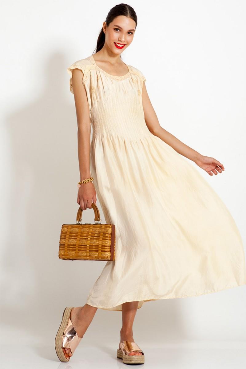 Vestido Vintage Camisola Chic (VENDIDO)