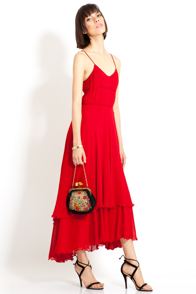 Vestido Vintage Red Power