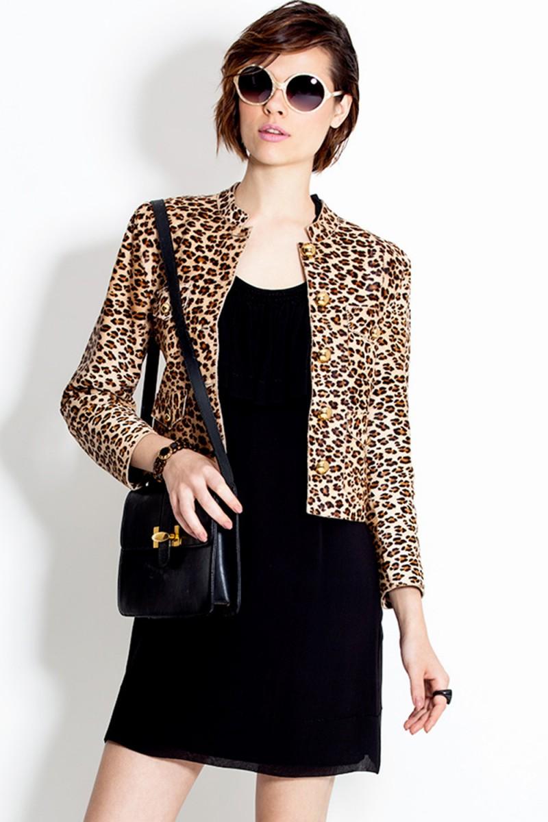 Jaqueta de Couro Leopard (VENDIDA)